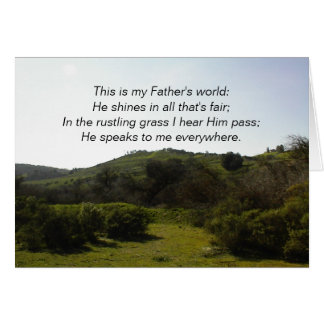 Inspirational Card: This is my Father's World
