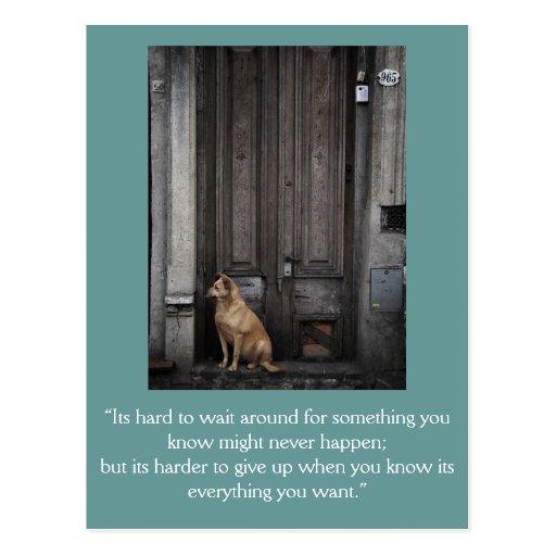 Inspirational card: Waiting 1 Postcards