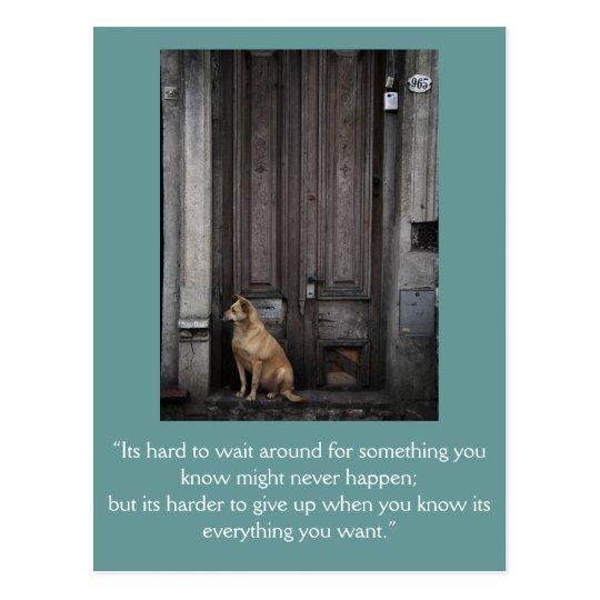 Inspirational card: Waiting 1 Postcard