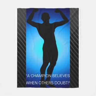 Inspirational Champion Fleece Blanket