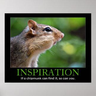 Inspirational Chipmunk Poster