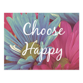 Inspirational Choose Happy Quote Affirmation Postcard
