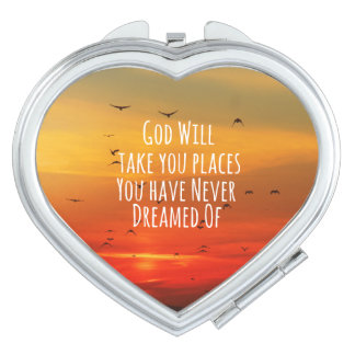 Inspirational Christian Quote: God Will Vanity Mirror