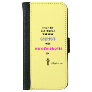 Inspirational Christian Scripture Quote Typography iPhone 6 Wallet Case