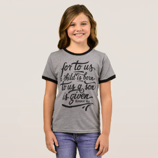 Inspirational Christmas Bible Verse | Ringer Shirt