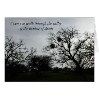 Inspirational Comfort Card: Oaks against grey sky Greeting Card