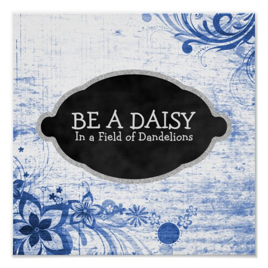 Inspirational Daisy Flower Quote Girly Poster