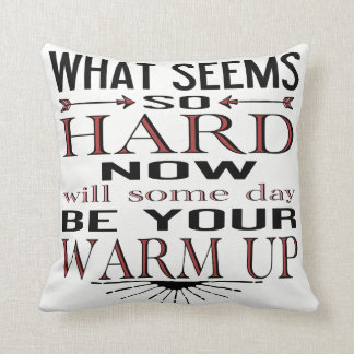 Inspirational Dancer Fitness Quotation Cushion