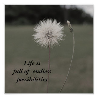 Inspirational Dandelion - Customiz... - Customized Poster