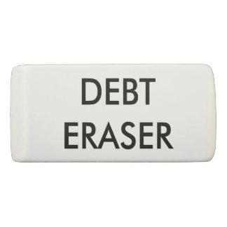 Inspirational Debt Eraser Typography Motivational