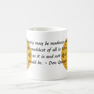 Inspirational Don Quixote quote Basic White Mug