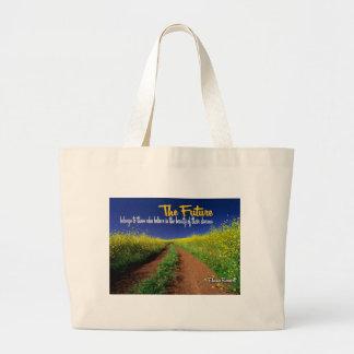Inspirational Dream Quote -- Eleanor Roosevelt Jumbo Tote Bag