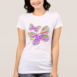 Inspirational Elegant Butterfly Tag Cloud T-Shirt