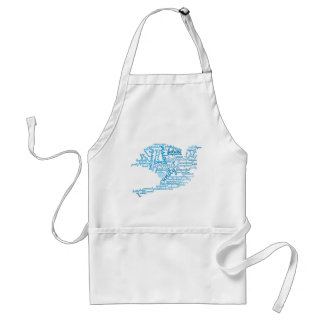 Inspirational Elegant Dove of Peace Tag Cloud Standard Apron