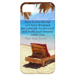 Inspirational Emerson DREAM quote iPhone 5 Covers