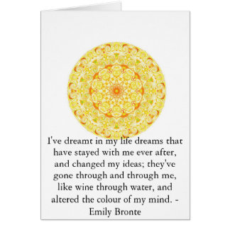Inspirational Emily Bronte quotation Greeting Card