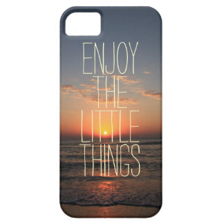 Inspirational Enjoy the Little Things Quote Barely There iPhone 5 Case