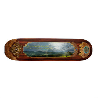 Inspirational - Eternal hope - Psalms 19-1 Skateboard Deck