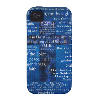 Inspirational Faith Bible Verses Vibe iPhone 4 Cases