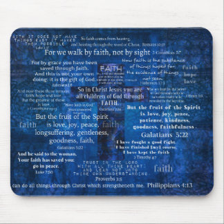 Inspirational Faith Bible Verses Mouse Mat