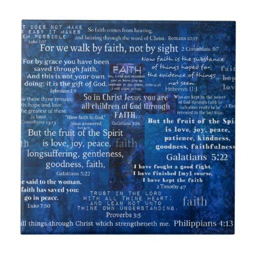 Inspirational Faith Bible Verses Tile