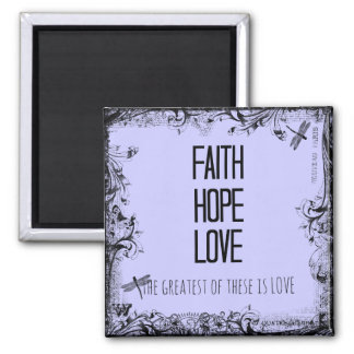 Inspirational Faith Hope Love Bible Verse Magnets