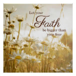 Inspirational Faith Quote Poster - photography