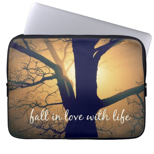 Inspirational Fall in Love with Life Quote Laptop