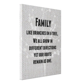 Inspirational Family Quote Canvas Print