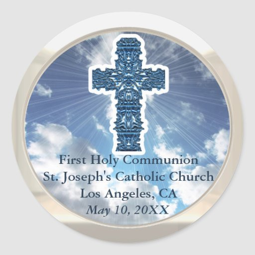 Inspirational First Holy Communion Church Stickers