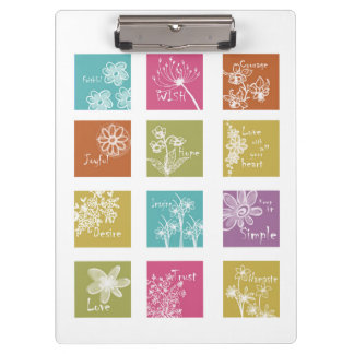 Inspirational Floral Clipboard