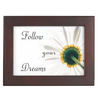 Inspirational   Follow Your Dreams   Flower Keepsake Box