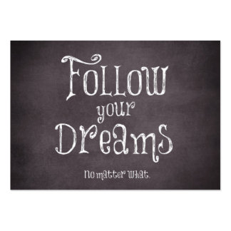 Inspirational Follow Your Dreams Quote Pack Of Chubby Business Cards