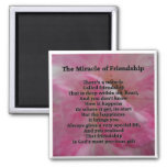 Inspirational Friendship Poem Square Magnet