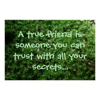 Inspirational Friendship Quote Poster