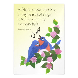 Inspirational Friendship Quote with Birds Magnetic Invitations