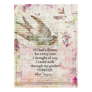 Inspirational friendship Quote with vintage art Postcard