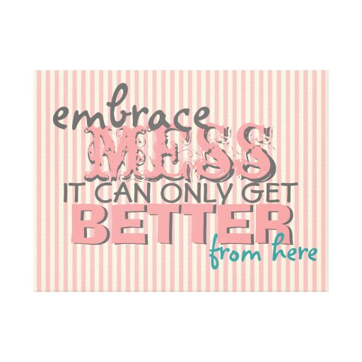 Inspirational Funny Wall Art with Style Gallery Wrap Canvas