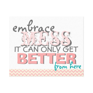 Inspirational Funny Wall Art with Style Canvas Print