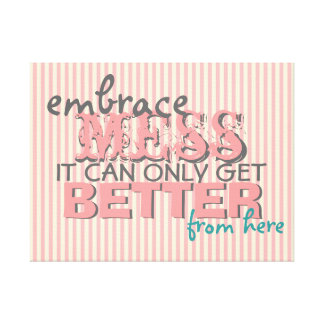 Inspirational Funny Wall Art with Style Stretched Canvas Print