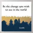 Inspirational Gandhi Quote Poster Art Print
