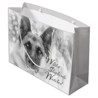 Inspirational German Shepherd Holiday Gift Bag