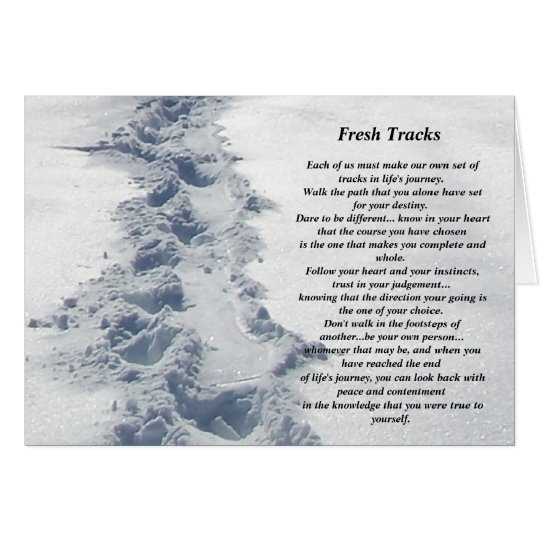 Inspirational Gifts Fresh Tracks Card