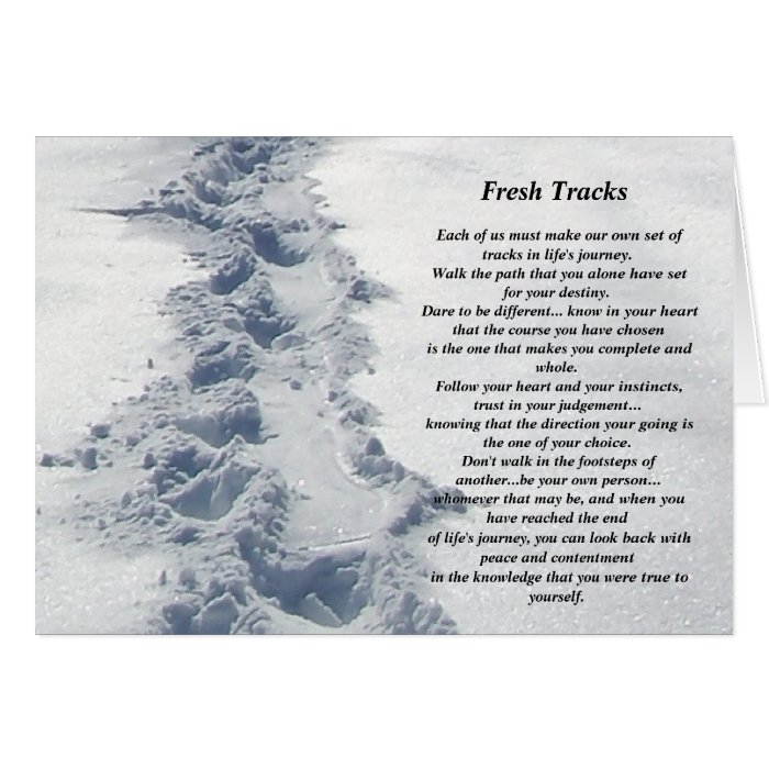 Inspirational Gifts Fresh Tracks Greeting Card