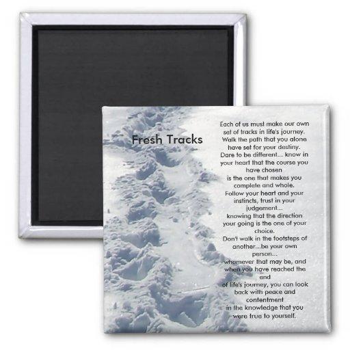 Inspirational Gifts Fresh Tracks Refrigerator Magnets