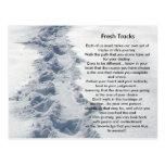Inspirational Gifts Fresh Tracks Postcard