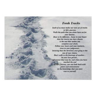 Inspirational Gifts Fresh Tracks Poster