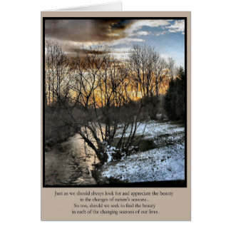 Inspirational Gifts Seasons of Our Lives Card