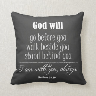 Inspirational God Quote; Go, Walk and Stand Throw Cushions