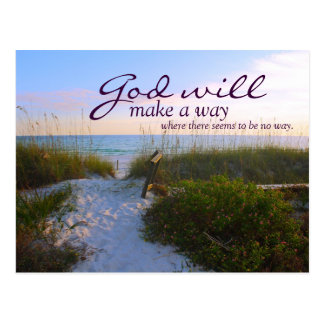 Inspirational: God Will Make A Way... Postcard